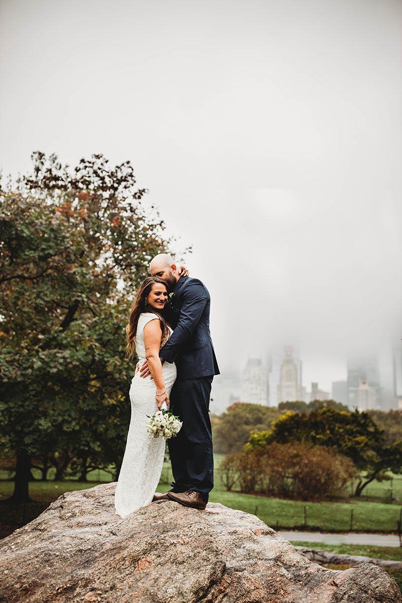 Denver Wedding Photographer, new york couple standing in central park